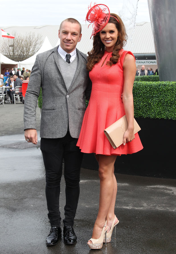 Danielle Lloyd and Jamie O'Hara at Aintree Racecourse, 4 April 2014