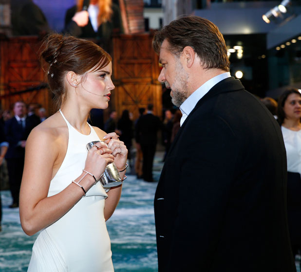 Emma Watson and Russell Crowe, UK Premiere of Noah at the Odeon Leicester Square, London, 31 March 2014