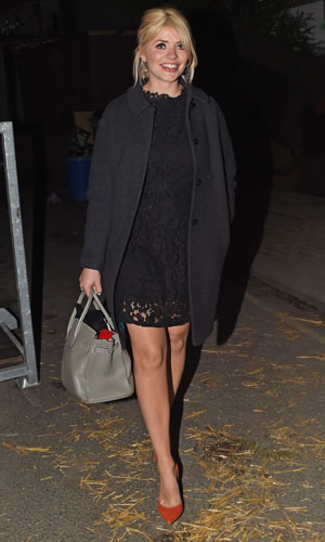 Holly Willoughby outside Celebrity Juice studios, London, 1 April 2014