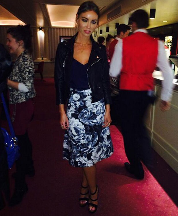 Lauren Pope attends I Can't Sing musical in London, 2 April 2014