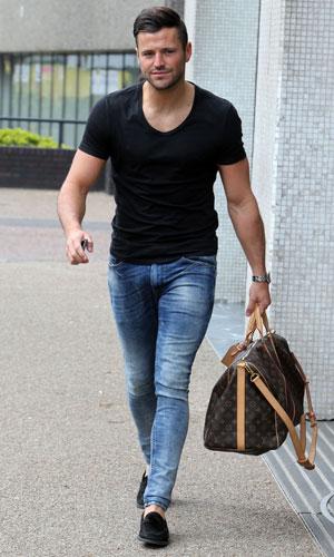 Mark Wright outside the ITV studios, 2 April 2014