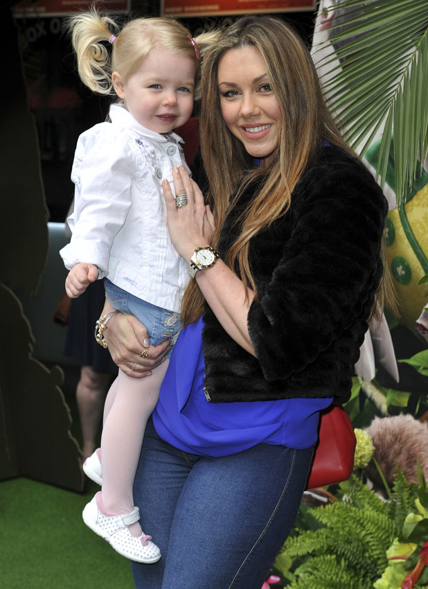 Michelle Heaton and daughter Faith, Rio2 Gala Film Screening at the VUE Leicester Square, 30 March 2014