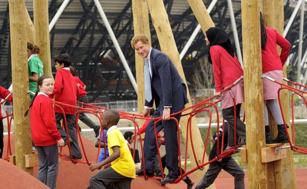 Prince Harry and Boris Johnson visit the new Queen Elizabeth Olympic Park, London, Britain - 04 Apr 2014