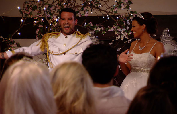 Jessica Wright and Ricky Rayment throw a prince and princess-themed party on the TOWIE eleventh series finale, airs 2 April 2014