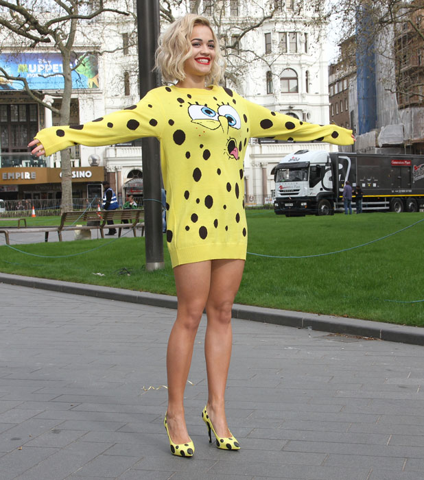 Rita Ora promotes her new single 'I'll never let you down' by releasing balloons in Leicester Square, 31 March 2014