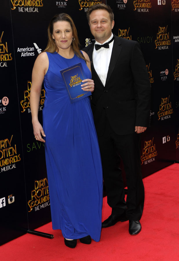 Sam Bailey and Craig Pearson, Dirty Rotten Scoundrels Press Night after party at The Savoy Hotel, 2 April 2014