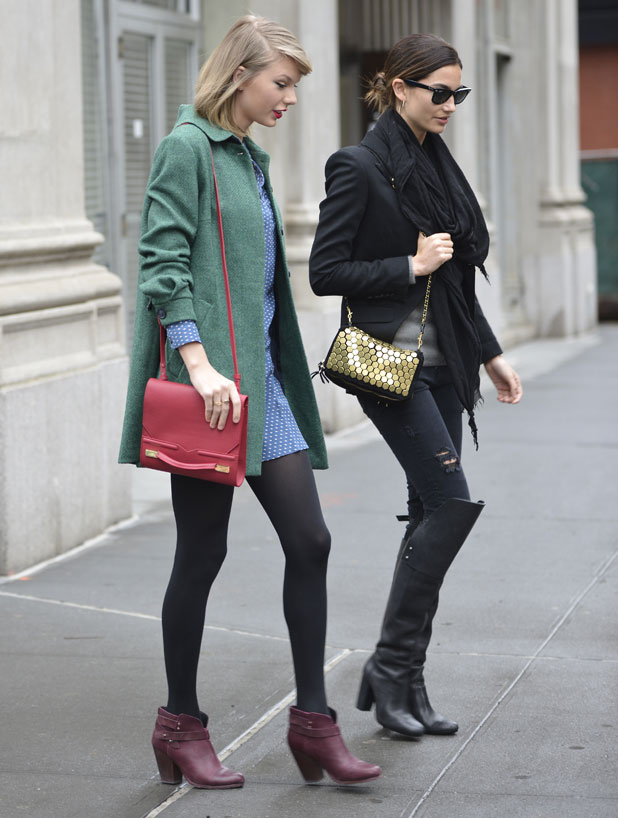 Lily Aldridge and Taylor Swift out and about in Soho, 28 March 2014
