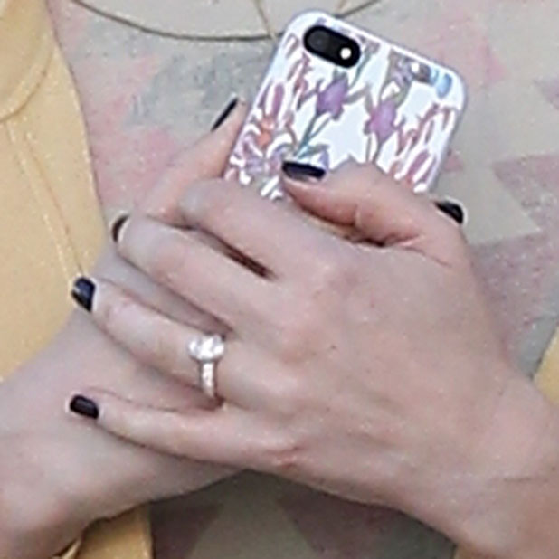 Whitney Port's engagement ring close up, while shopping in LA on 31 March 2014
