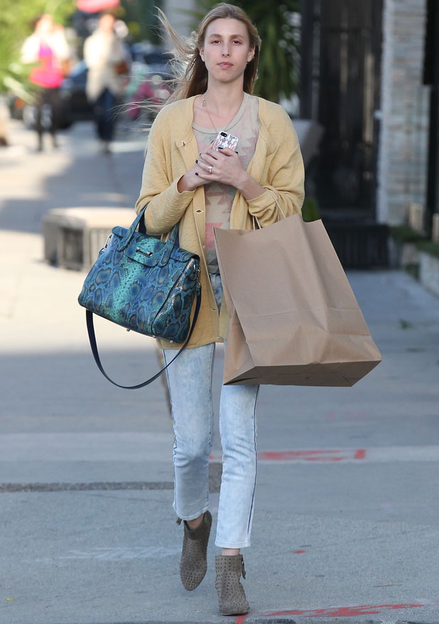Whitney Port shopping at West Elm furniture store in West Hollywood, 31 March 2014