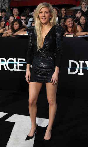 "Ellie Goulding - Premiere of Summit Entertainment's ""Divergent"" at the Regency Bruin Theatre - Red Carpet Arrivals 03/19/2014 Los Angeles, United States"