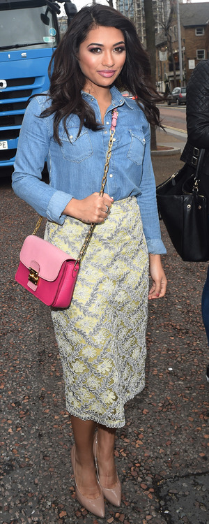 Vanessa White steps out at the ITV studios in London, England - 7 April 2014