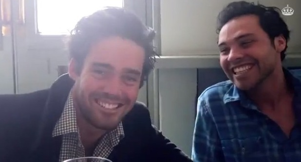Made In Chelsea's Andy Jordan and Spencer Matthews - dating masterclass video. (7 April).