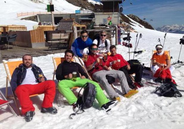 Mark Wright, TOWIE's Elliott Wright attend snowbombing festival in Austria (6 April).