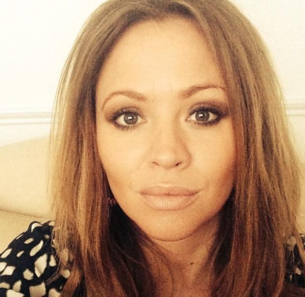 Kimberley Walsh's left-handed makeover, 9 April 2014