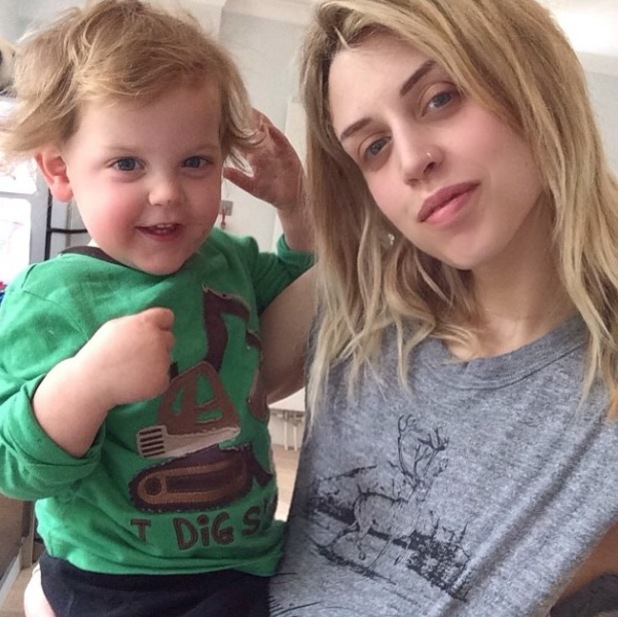 Peaches Geldof and her baby son Astala - 2 April 2014