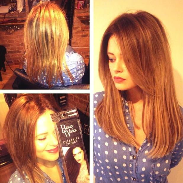 The Inbetweeners star Emily Atack shows off her new brunette hair on Twitter - 11 April 2014
