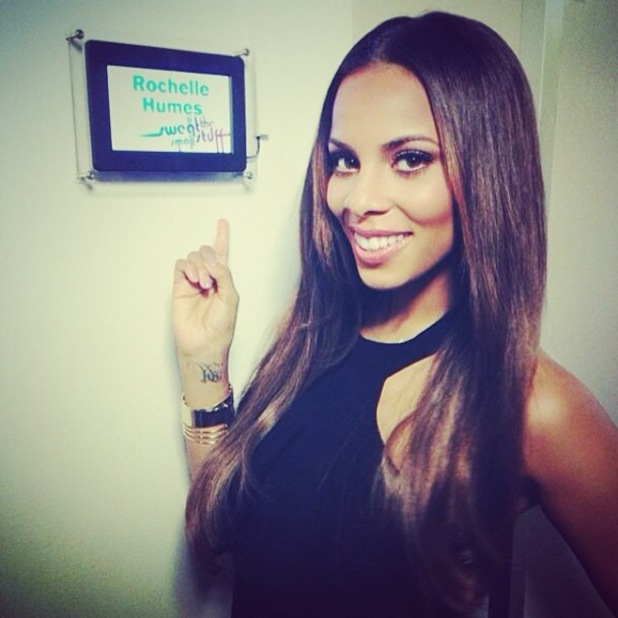 Rochelle Humes posts an Instagram picture backstage while filming Sweat The Small Stuff - 28 March 2014