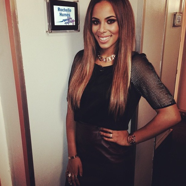 Rochelle Humes Instagrams a backstage picture while filming Sweat The Small Stuff - 25 October 2013