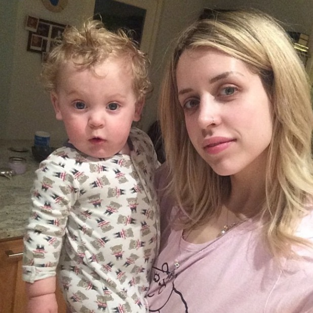 Peaches Geldof and her baby son Phaedra - 31 March 2014