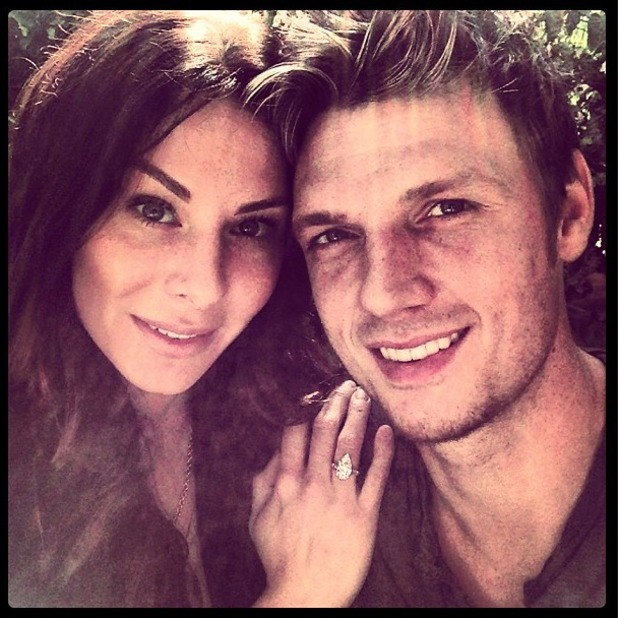 Nick Carter and his girlfriend, now wife, Lauren Kitt
