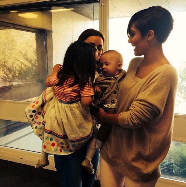 Una Healy's daughter Aoife Belle kisses Frankie Sandford's son Parker - 9 April 2014