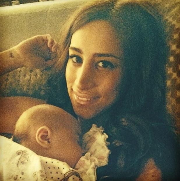 Danielle Jonas bonds with baby daughter Alena Rose (7 April).
