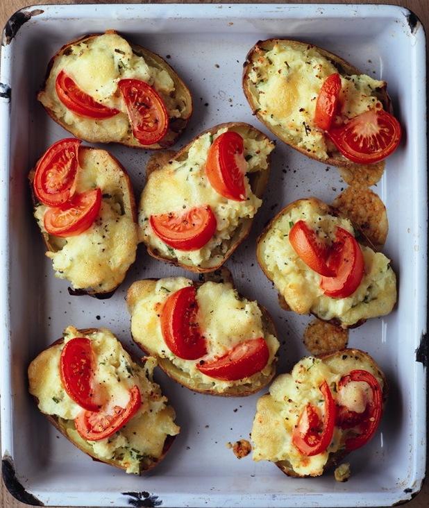 Twice-baked jacket potatoes