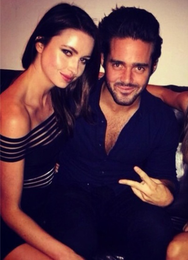 Emma Miller partying with Spencer Matthews (8 February 2014).
