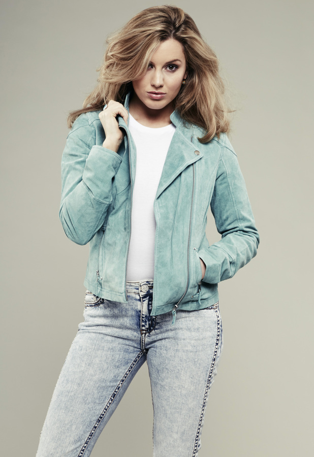 Former Made In Chelsea star Caggie Dunlop models her spring/summer '14 collection for ISWAI - 9 April 2014