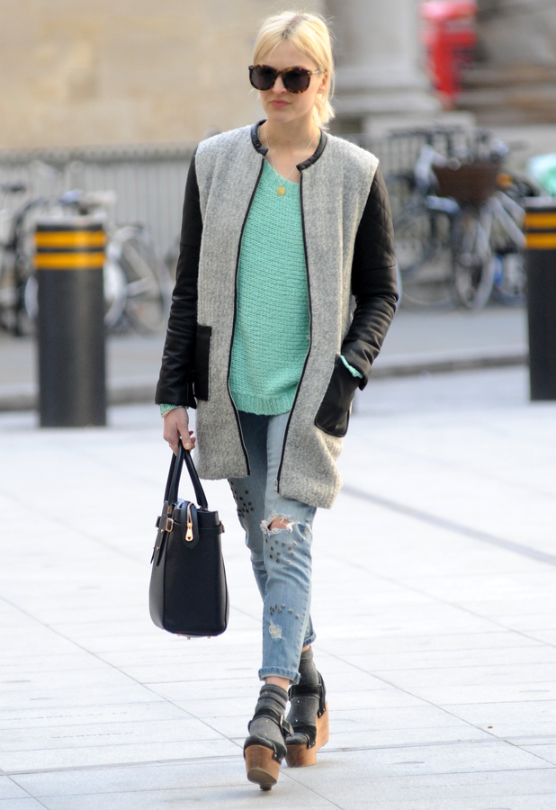 Fearne Cotton arrives at the Radio 1 studios in London, England - 8 April 2014
