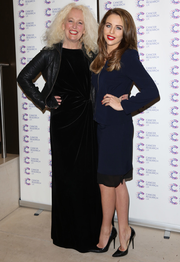 Lydia Bright and Debbie Bright attend the Jog On To Cancer charity gala in London, England - 9 April 2014