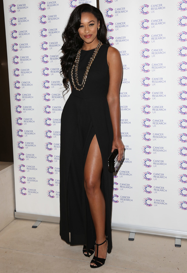 Tamera Foster steps out at the Jog On To Cancer charity event in London, England - 9 April 2014