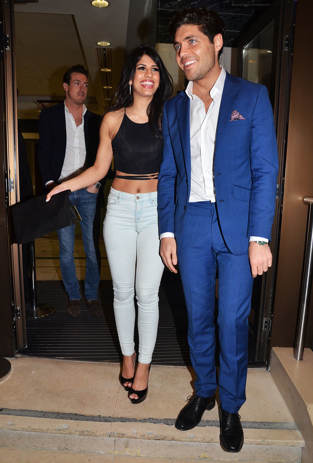 Jasmin Walia and Tom Pearce attend the Jog On To Cancer charity fundraising event in London, England - 9 April 2014