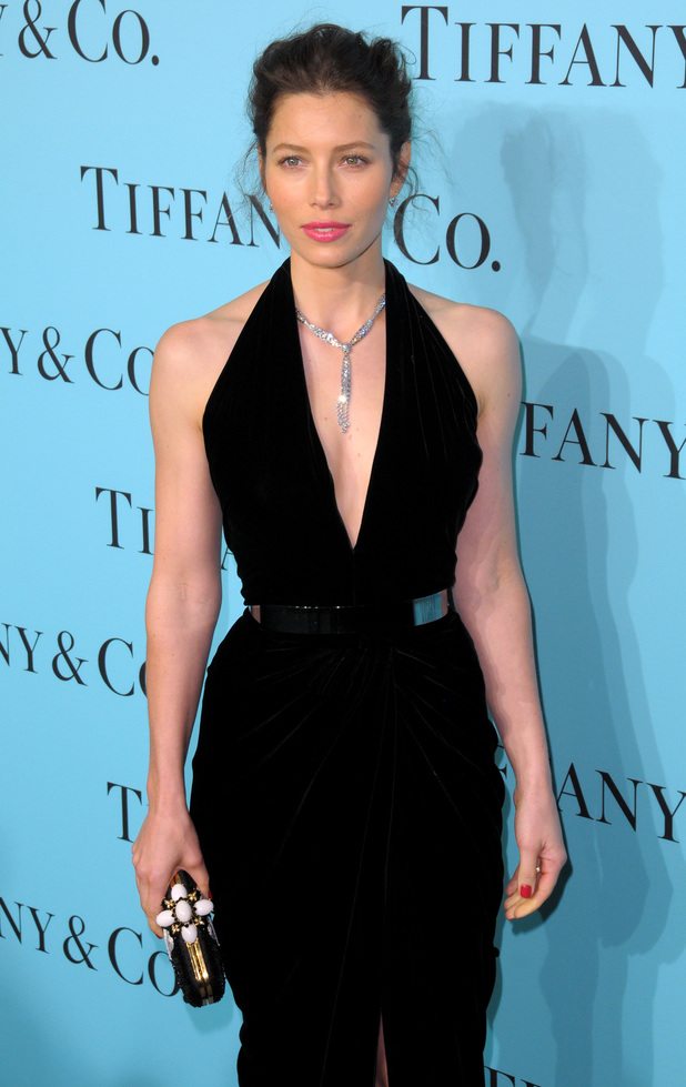 Jessica Biel attends Tiffany & Co.'s debut of The 2014 Blue Book in New York, America - 10 April 2014