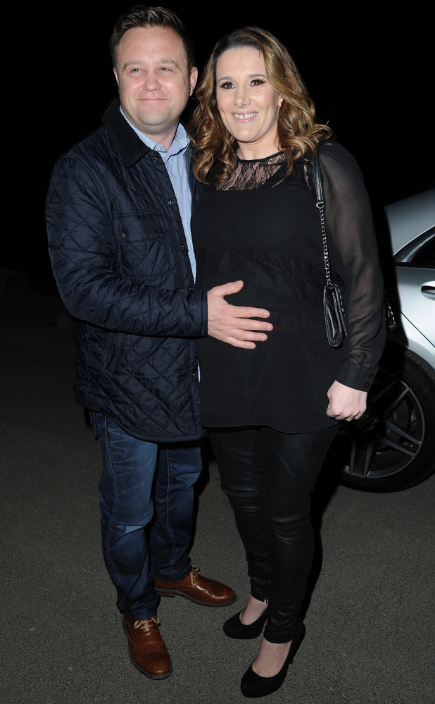Sam Bailey arrives at the Concorde hangar in Manchester Airport with her husband Craig Pearson to sound check for Supersonic, a Manchester Pride charity event