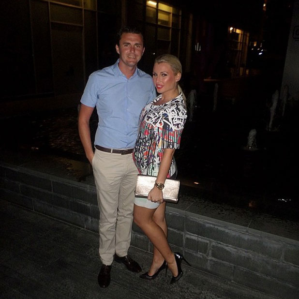 Billie Faiers and fiance Greg Shepherd in Dubai, 9 April 2014