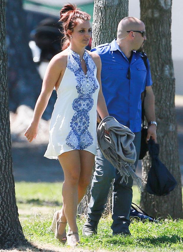 Britney Spears at her son's soccer game in LA, 6 April 2014
