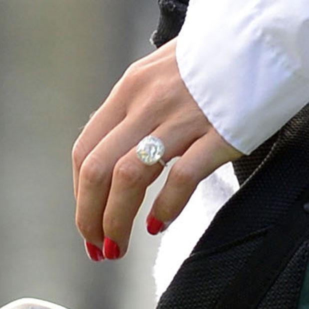 Caroline Wozniacki shows off engagement ring at Masters Golf tournament Par 3 contest, Augusta National Golf Club, Georgia, America - 09 Apr 2014