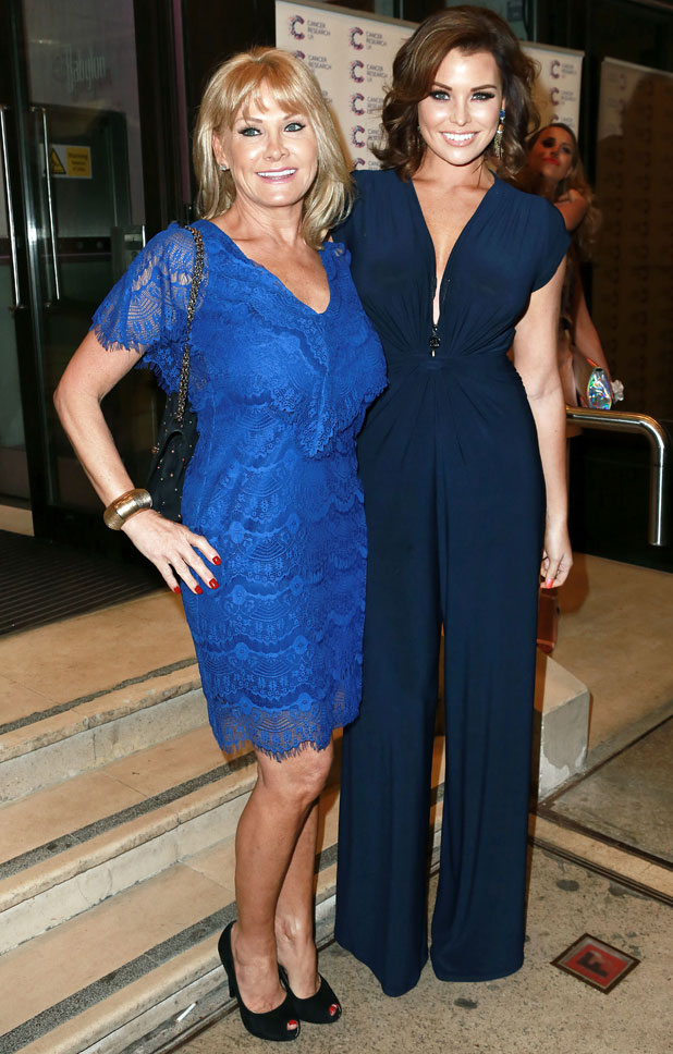 Jessica Wright and Carol Wright, Jog on to Cancer Fundraiser at the Kensington Roof Gardens, London, 9 April 2014