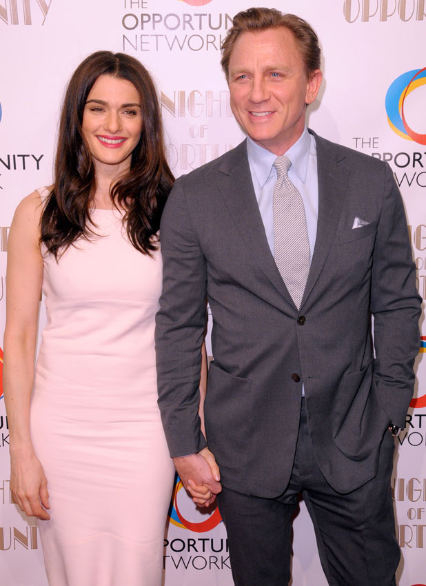 Rachel Weisz and Daniel Craig, 7th Annual Night of Opportunity Gala at Cipriani Wall Street - Red Carpet Arrivals, 7 April 2014