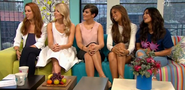 The Saturdays appearing on Sunday Brunch, London, 6 April 2014