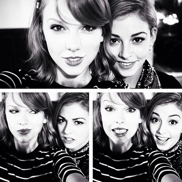 Taylor Swift and Gracie Gold bake cookies together, 9 April 2014