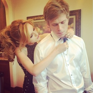 Bella Thorne and Tristan Klier prepare to go to their high school prom in America - 13 April 2014