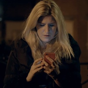 Made In Chelsea's Cheska Hull receives a text message about Alex. Aired 14 April 2014.