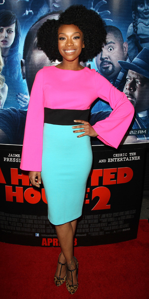 Brandy Norwood attends the premiere of A Haunted House 2 in Los Angeles, America - 16 April 2014