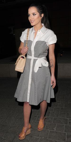 Helen Flanagan enjoys a night out at Zuma restaurant in Knightsbridge - 15 april 2014