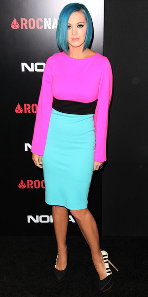 Katy Perry attends the Roc Nation Pre-Grammy Brunch in California, America - 11 February 2012