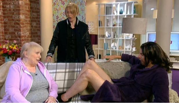 Rylan Clark does Sonia Jackson impression on This Morning - 17 April 2014