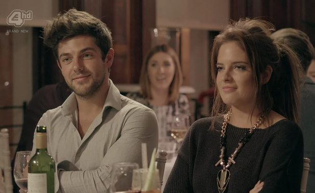 Binky Felstead and Alex Mytton dine out on 'Made In Chelsea', Shown on E4 hd  8 April 2014.