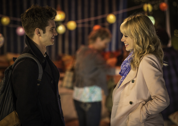 Emma Stone and Andrew Garfield in The Amazing Spider-Man 2: Rise Of Electro, released 16 April 2014